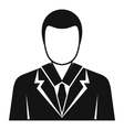 Businessman avatar icon simple style vector image vector image