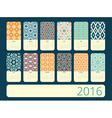Calendar 12 months Geometric vintage pattern vector image