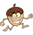 Cartoon acorn vector image vector image