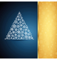 Christmas tree snowflake design background vector image