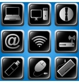computer icons set vector image vector image