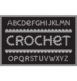 crochet letters set vector image
