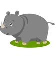 Cute Safari Rhino Isolated vector image