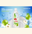 dishware cleaner cleaning and washing ceramic vector image vector image