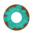 Donut with sprinkles isolated on white vector image