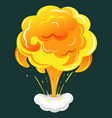 dynamite burst or bomb explosion visual effect vector image