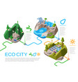 eco city energy isometric vector image vector image