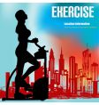 exercise flyer vector image vector image