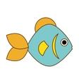 fish icon image vector image vector image