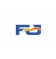 FJ initial company logo vector image vector image