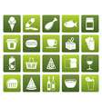 Flat Shop and Foods Icons vector image vector image