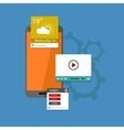 Flat UI design concept vector image vector image