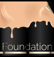 foundation liquid texture creamy skin tone vector image