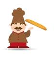 french baguette baker vector image