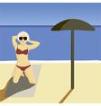 Girl beach vector image vector image