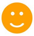 glad smiley flat icon symbol vector image