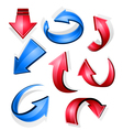 glossy arrow icons vector image vector image