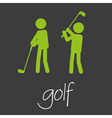 golf sport commercial design banner and background vector image vector image