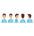 group of youngs men poses styles vector image
