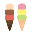 hand drawn kids ice cream vector image