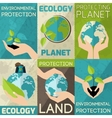 Hand Hold Plant Poster vector image