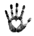 Hand print with heart vector | Price: 1 Credit (USD $1)