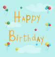 happy birthday greeting card with balls on a vector image