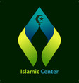 islamic center symbol vector image vector image