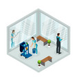 isometric cleaning service concept vector image