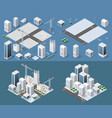 isometric module is area landscape vector image vector image