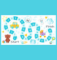 kids baby shower board game vector image