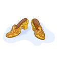 Magic shoes vector image