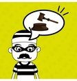 man criminal law icon vector image vector image