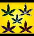 Marijuana cannabis design leaf stamp vector image vector image