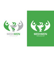 medicine and people logo combination vector image