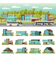 modern houses composition vector image vector image
