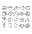 modern line style icons food vector image