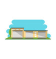modern warehouse construction isolated icon vector image
