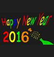 new year blackboard 2016 vector image vector image