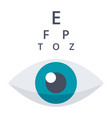 optometry or ophthalmology icon vector image