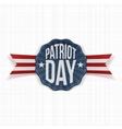 Patriot Day Text on patriotic Label vector image vector image
