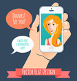 Phone conversation Flat style vector image