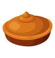 pie icon baked round tasty homemade tart vector image vector image