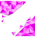pink polygon background vector image vector image