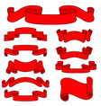 red paper scrolls set of vector image