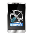 repair of smartphones and gadgets vector image vector image