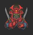 samurai with katana vector image vector image