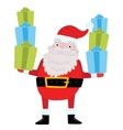 Santa Claus with gifts and presents vector image vector image