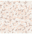 seamless pattern with beige elements ink vector image