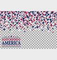 seamless pattern with stars for 1st of july vector image vector image